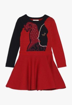 ROBE TRICOT - Pletené šaty - rouge