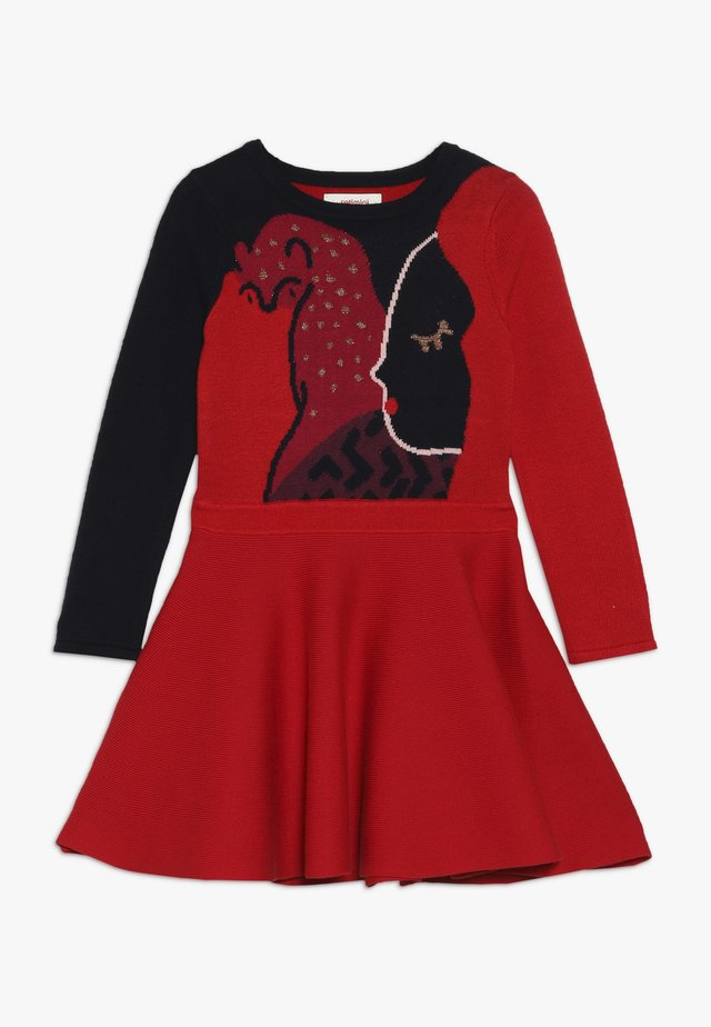 ROBE TRICOT - Robe pull - rouge