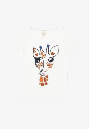 3D  - T-shirt imprimé - white
