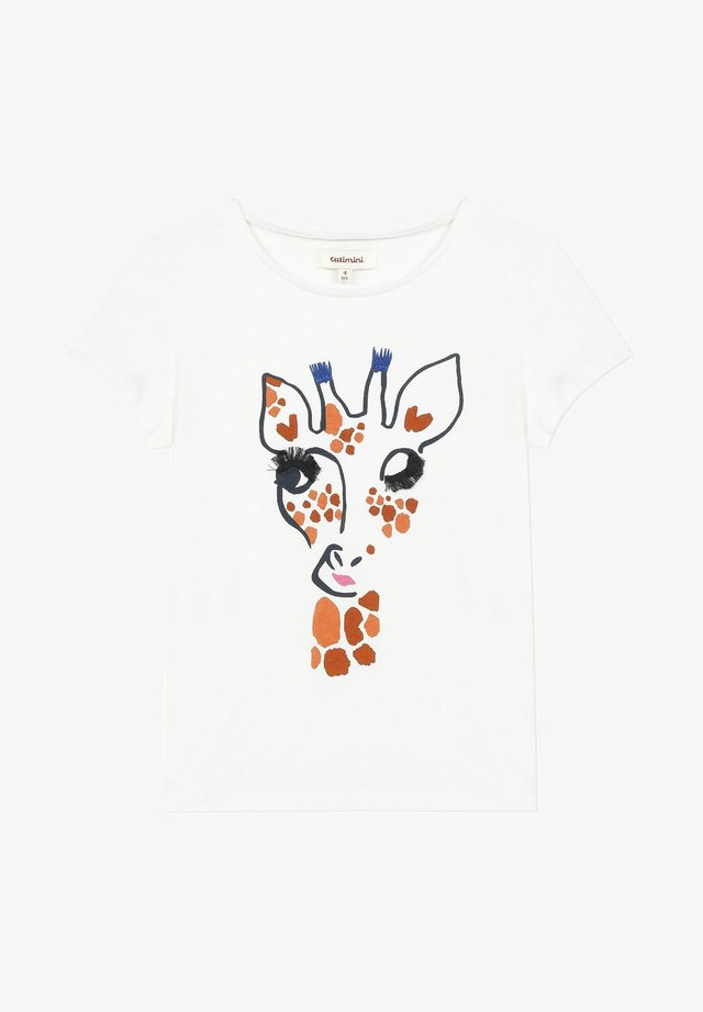 3D  - T-shirt print - white