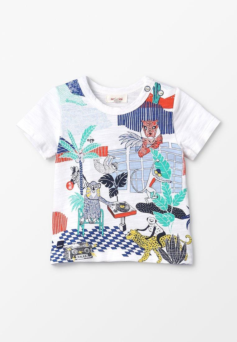 Catimini - TEE BABY - T-shirt z nadrukiem - craie