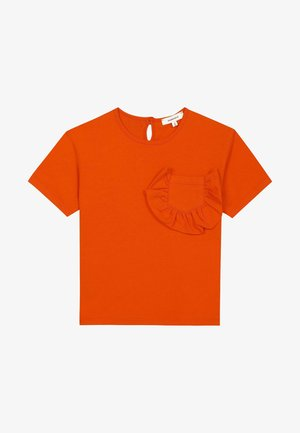 RUFFLE POCKET - Bluzka - orange