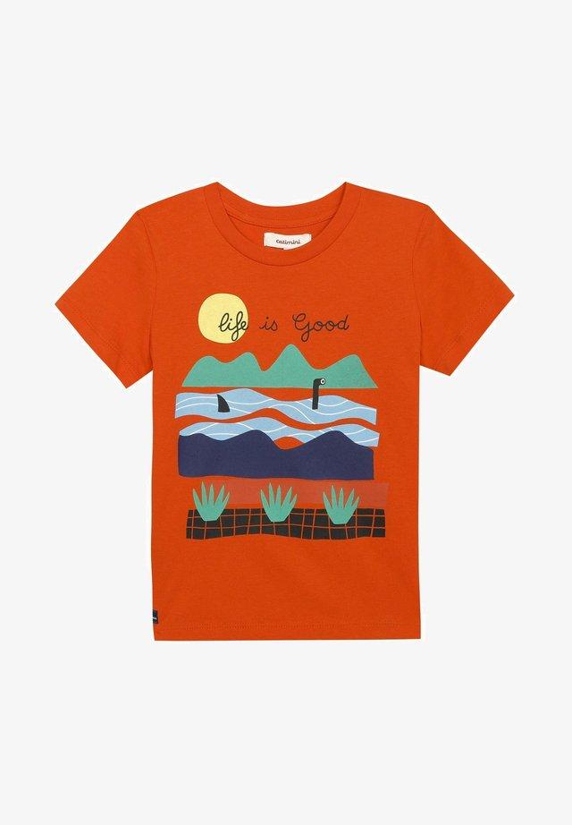 SLOGAN - T-shirt imprimé - abricot