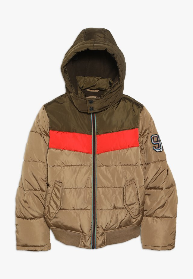Winter jacket - beige fonce