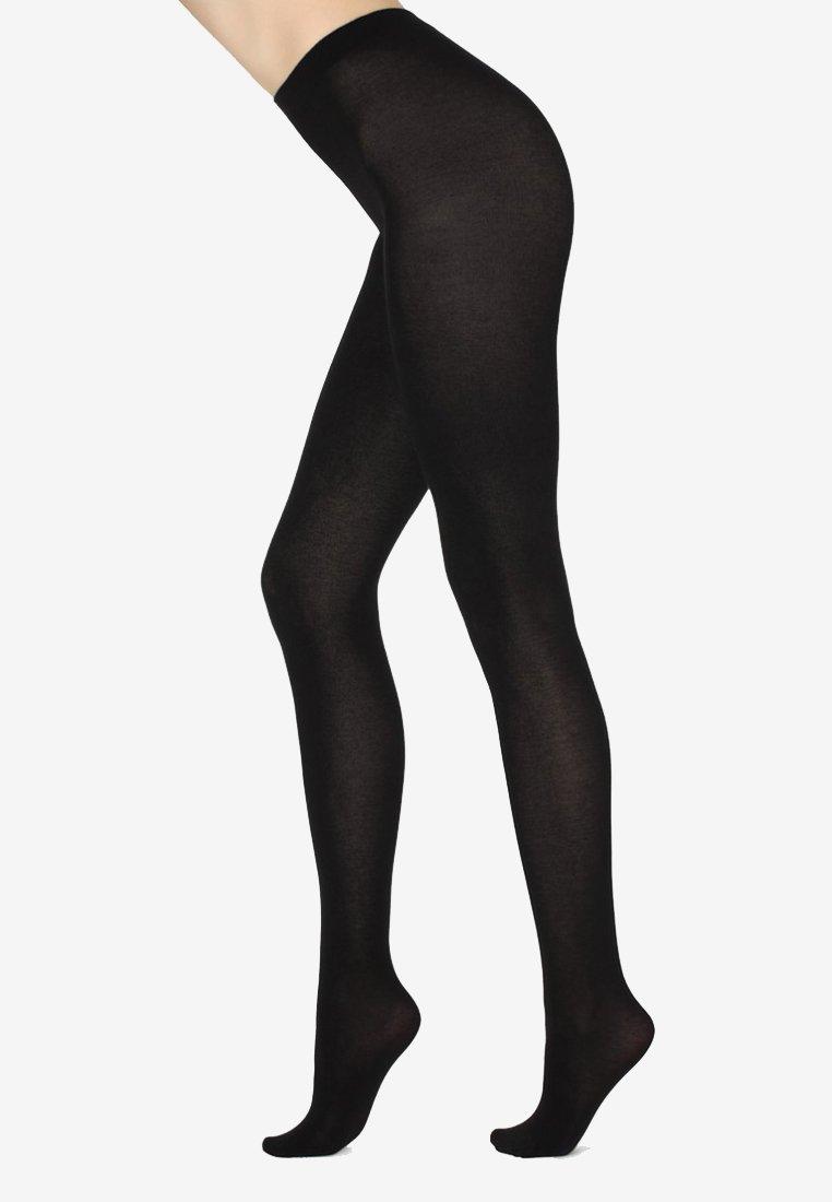 Calzedonia - MIT KASCHMIR - Tights - black