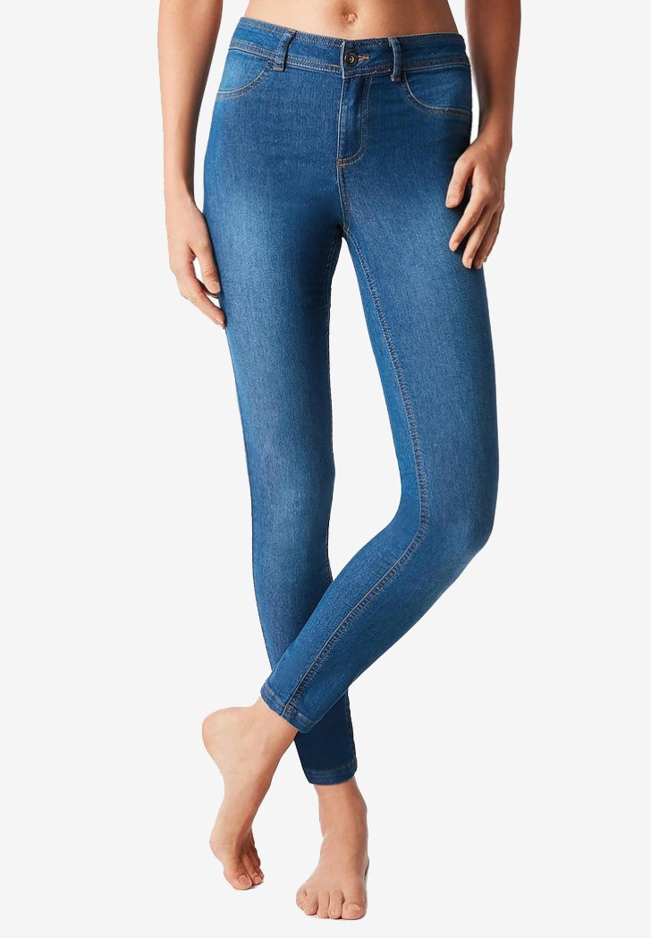 Calzedonia - Leggings - Stockings - blue light jeans