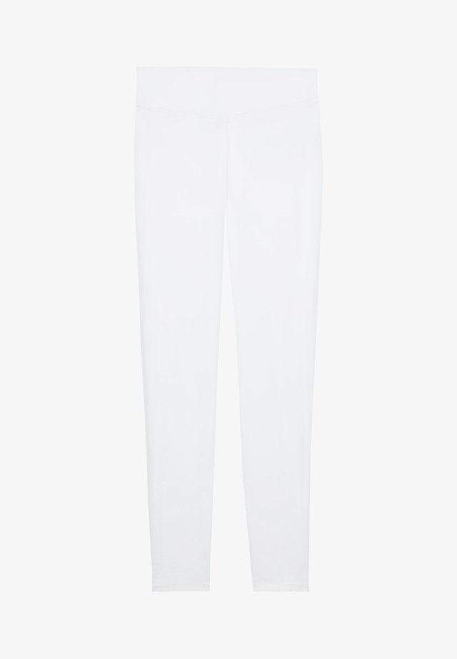 SKINNY-JEANS - Leggings - Trousers - bianco jeans