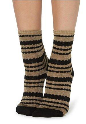 MODISCHE SOCKEN MIT GLITZER - Socks - nude/beige/taupe
