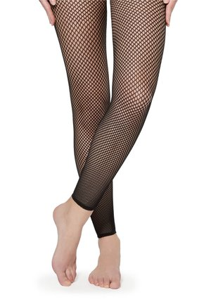 LEGGINGS AUS NETZGEWEBE - Leggings - Stockings - nero