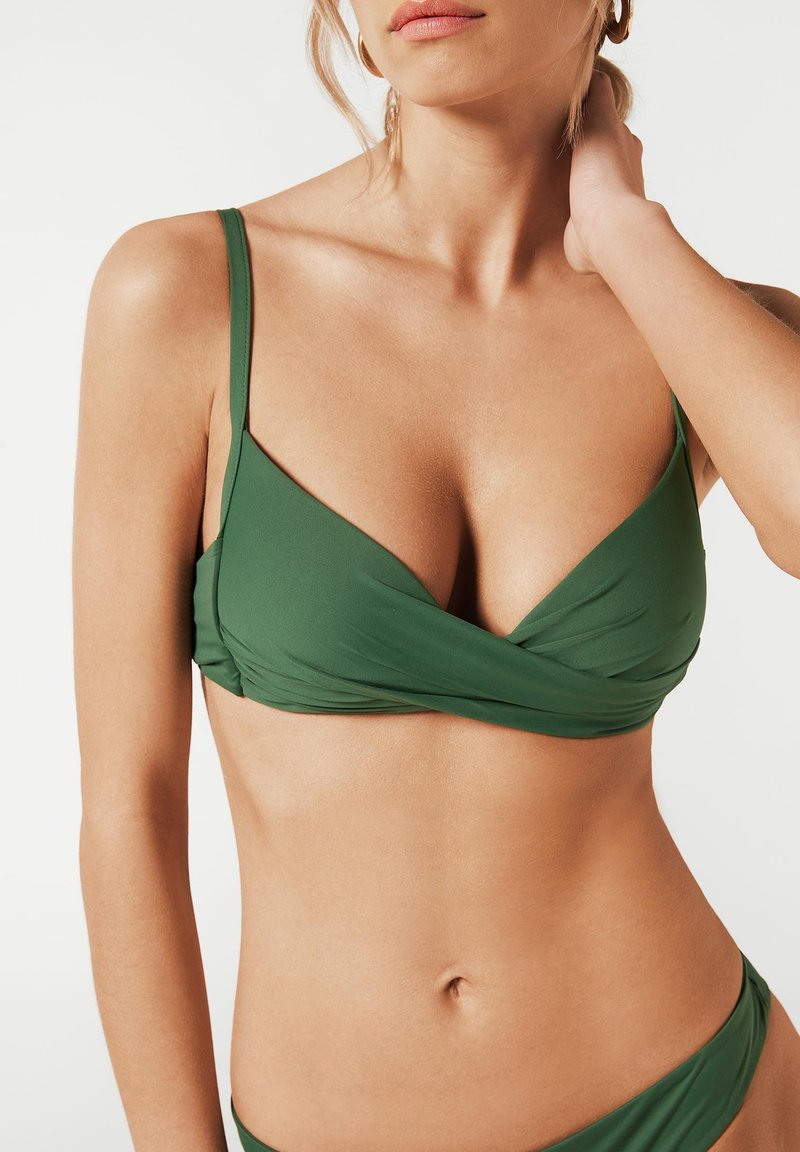 Calzedonia - INDONESIA - Bikini top - grün - 175c - palm green