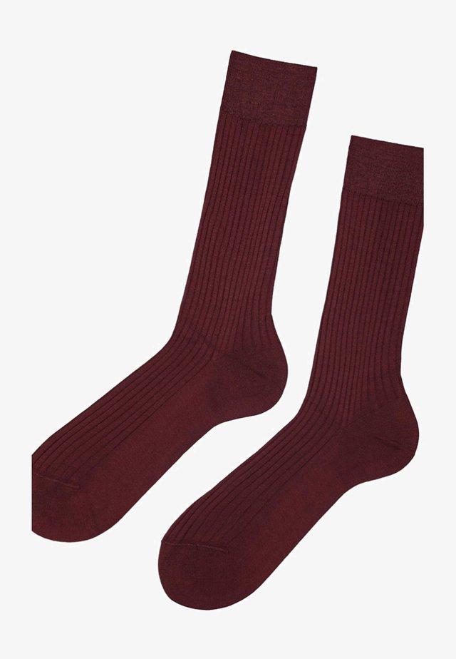 FILO DI SCOZIA - Socken - bordeaux