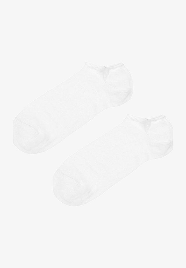KNÖCHELKURZE SOCKEN AUS LEICHTER BAUMWOLLE - Socken - white
