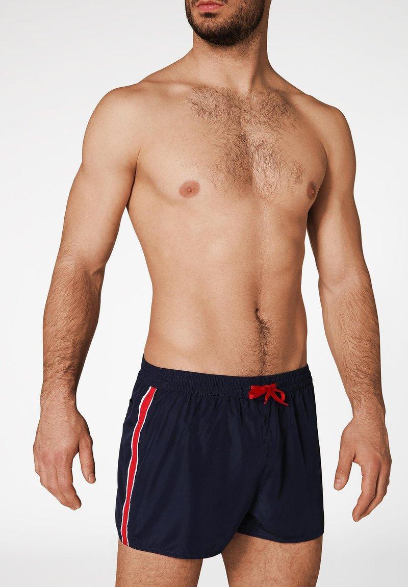 Calzedonia - IBIZA - Swimming shorts - deep blue/white/red