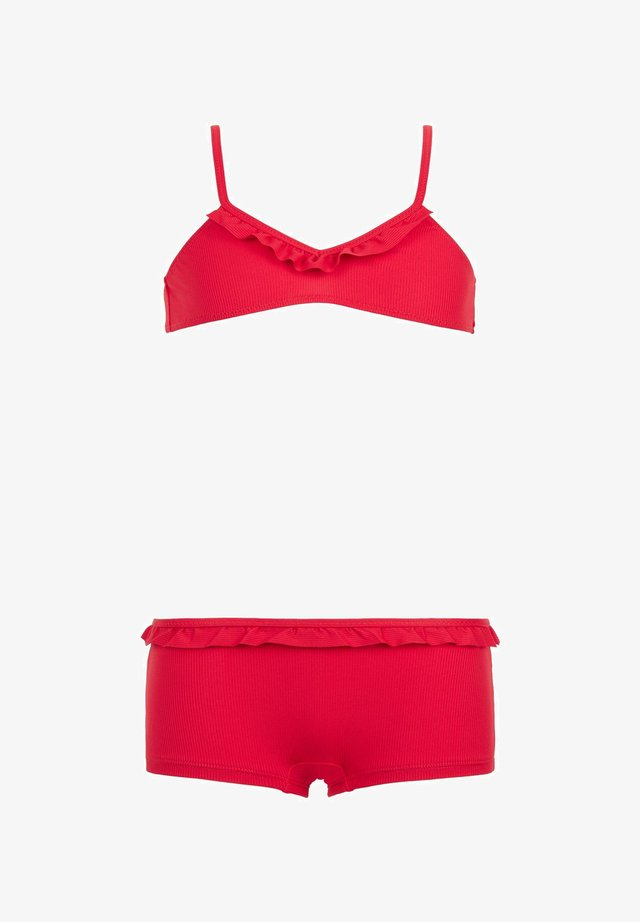 BIKINI MILA - Bikini - rot - 197c - rib hawaiian red