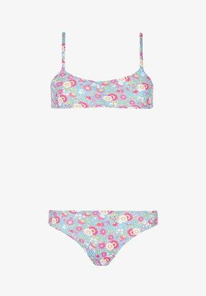 Bikini bottoms - blumen - 256c - fiori fondo azul