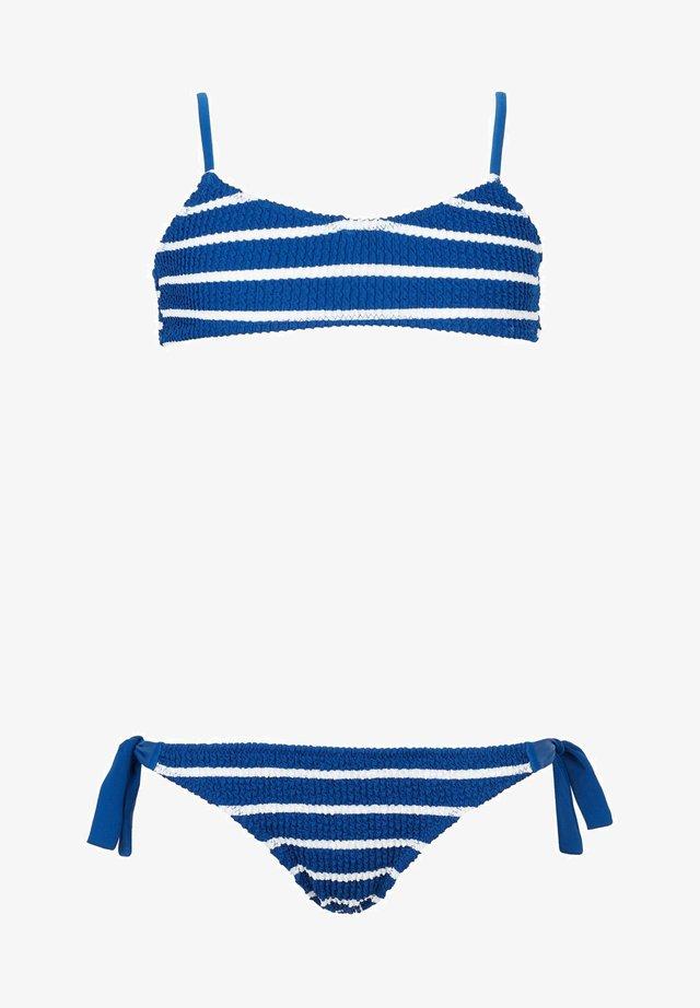 Bikini - streifen - 182c - hyper blue riga bianca