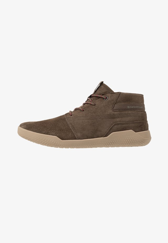 HEX MID - High-top trainers - muddy