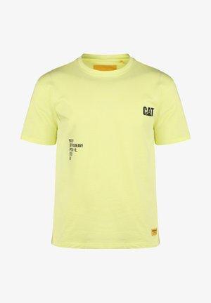 CATERPILLAR FASHION T-SHIRT HERREN - Print T-shirt - hi-vis yellow