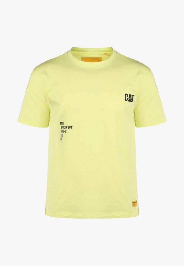 CATERPILLAR FASHION T-SHIRT HERREN - T-shirts print - hi-vis yellow