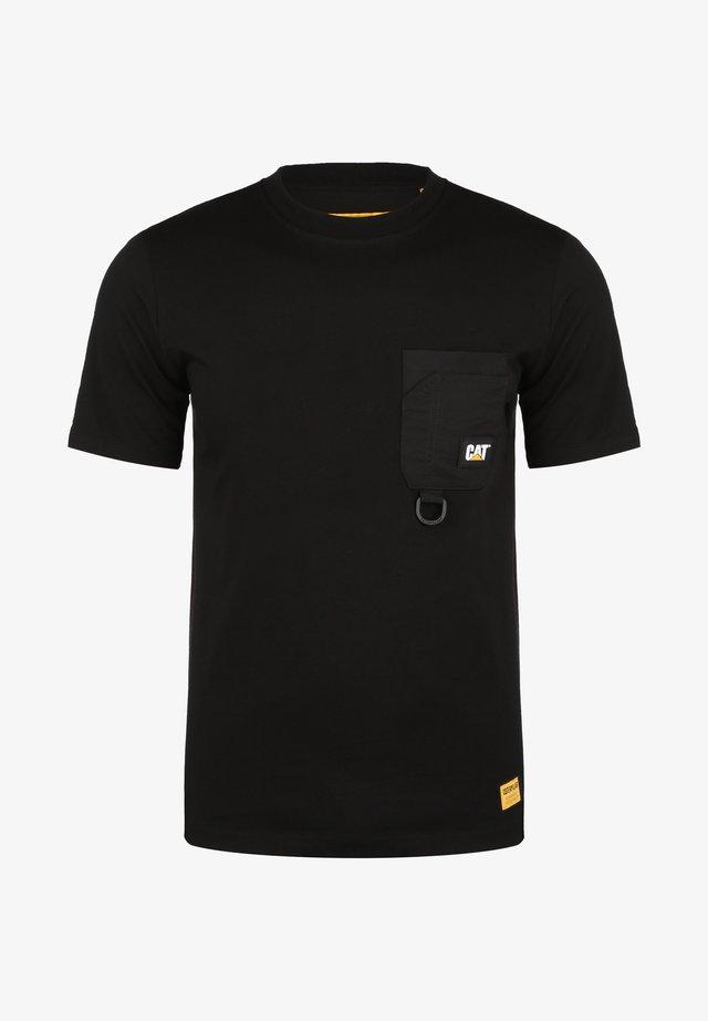 CATERPILLAR CATERPILLAR RING POCKET T-SHIRT HERREN - T-shirt imprimé - black