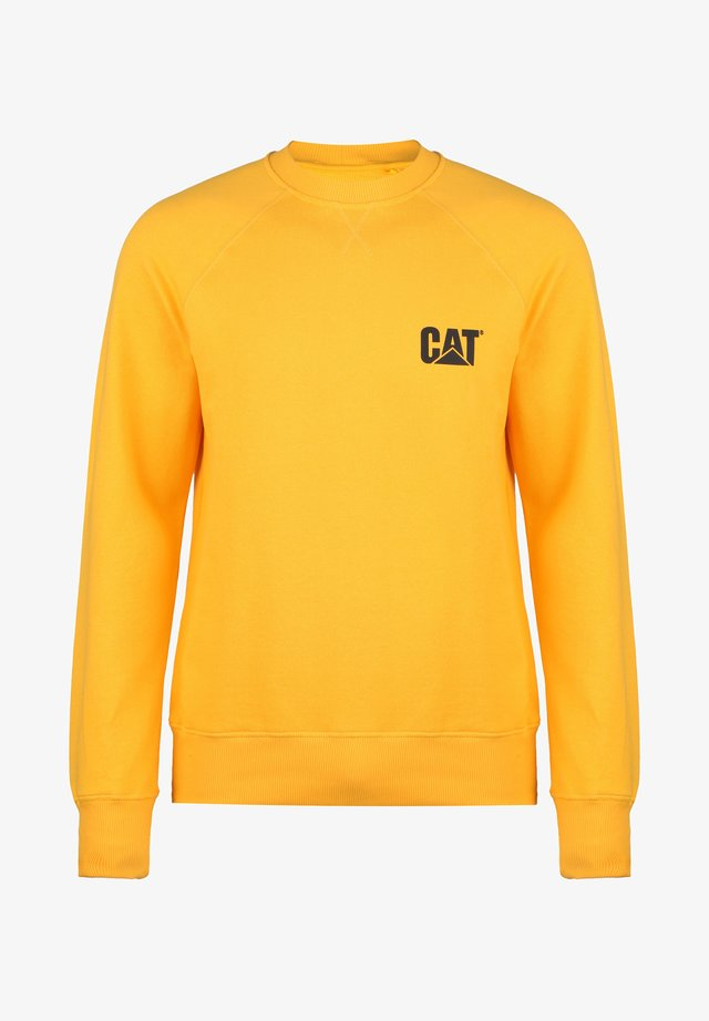 CATERPILLAR CAT SMALL LOGO ROUNDNECK SWEATSHIRT HERREN - Sweatshirt - cat yellow