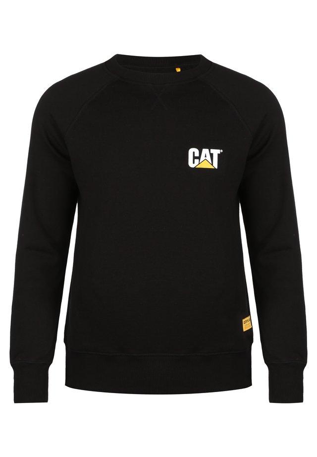 CATERPILLAR CAT SMALL LOGO ROUNDNECK SWEATSHIRT HERREN - Sweatshirt - black