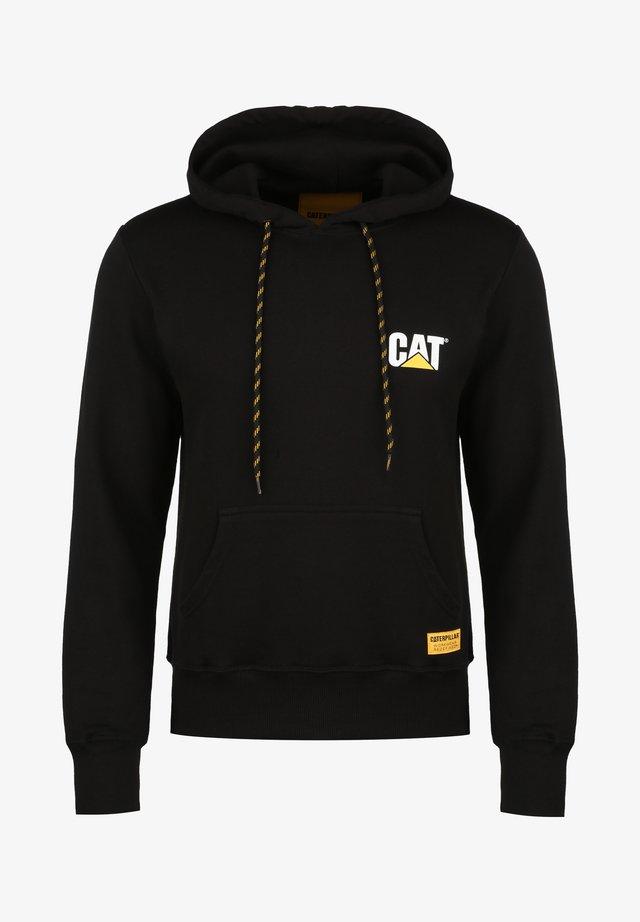 CATERPILLAR CAT SMALL LOGO KAPUZENPULLOVER HERREN - Sweat à capuche - black