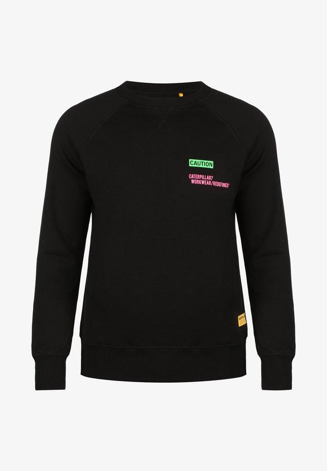 CATERPILLAR CATERPILLAR CAUTION ROUNDNECK SWEATSHIRT HERREN - Sweatshirt - black