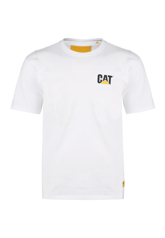 CATERPILLAR BASIC T-SHIRT HERREN - T-shirt z nadrukiem - white