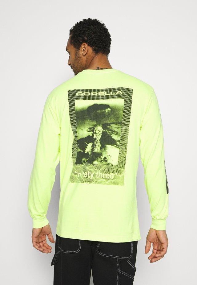 LONG SLEEVE - Top sdlouhým rukávem - neon yellow/back