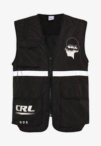 CORELLA - UTILITY VEST - Bodywarmer - black/white - 4