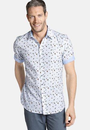 OBERON - Shirt - white/light blue