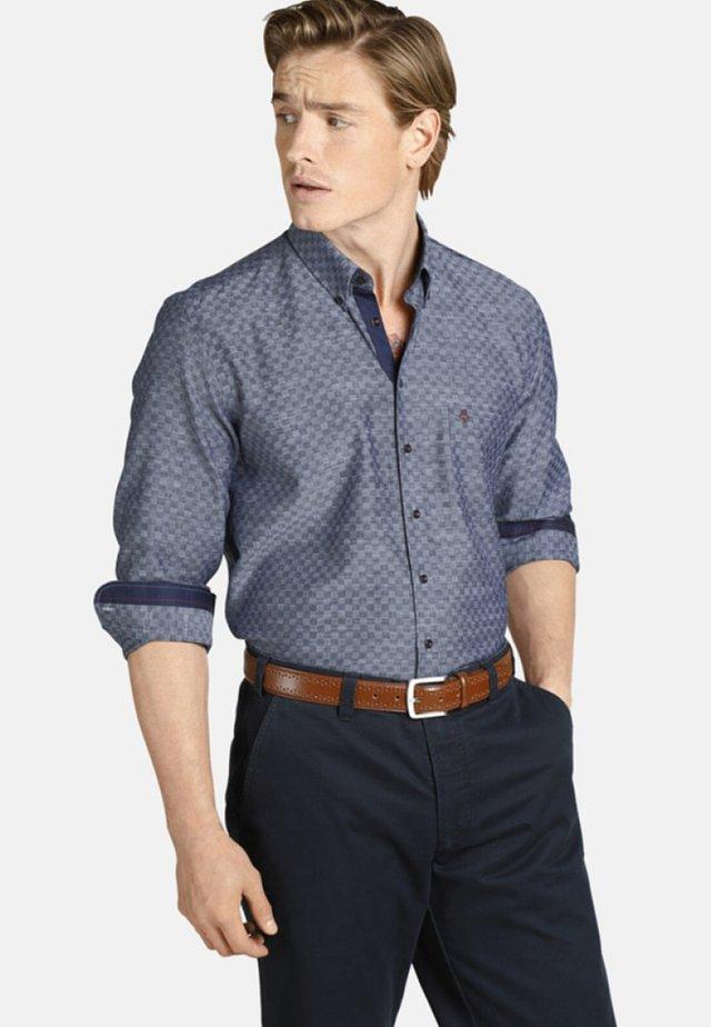DUKE BRIAN - Shirt - blue patterned
