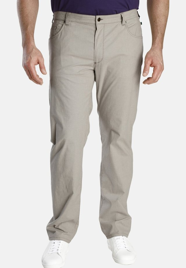 BARON JEFF - Pantalon classique - beige gemustert