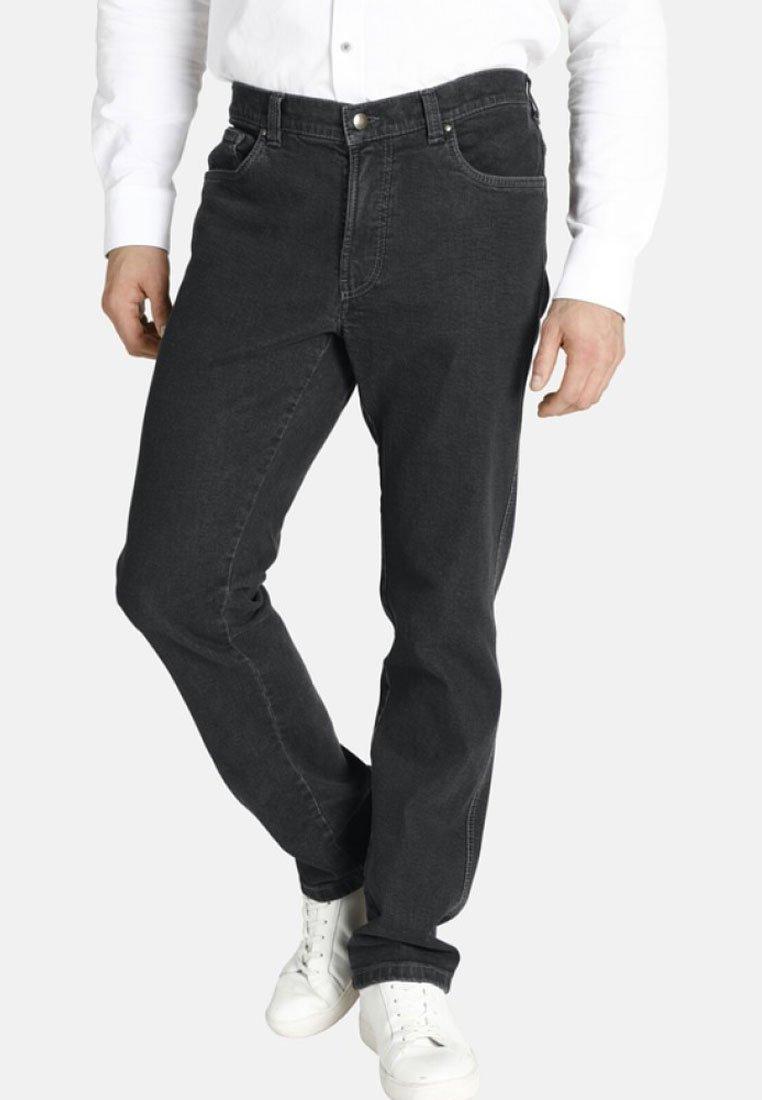 Charles Colby - DUKE LINOEL - Straight leg jeans - dark grey