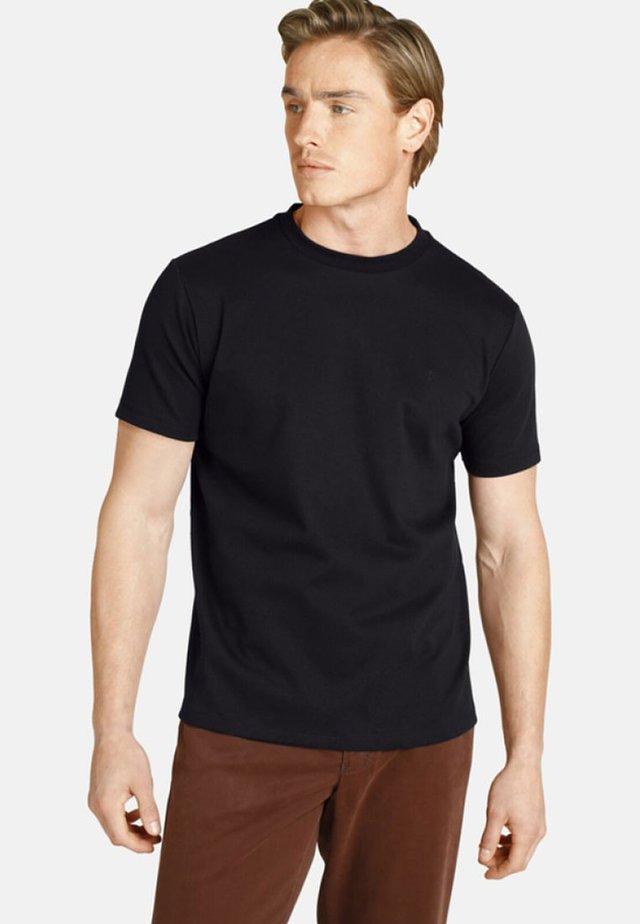 DOPPELPACK - EARL MARVIN - Basic T-shirt - black