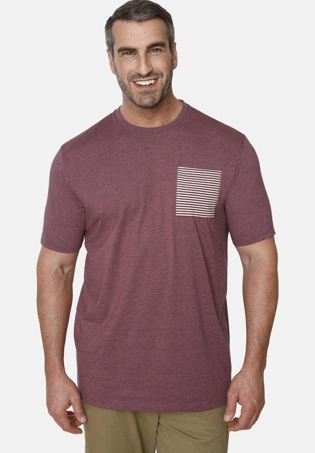 EARL MABON - Print T-shirt - dark red