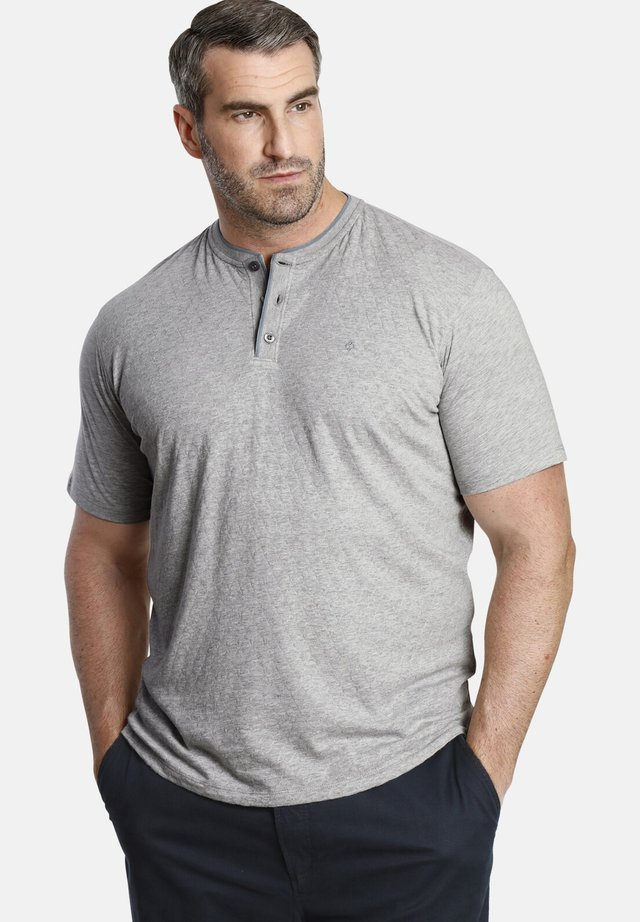 T-SHIRT EARL FINLEY - Basic T-shirt - light gray melange