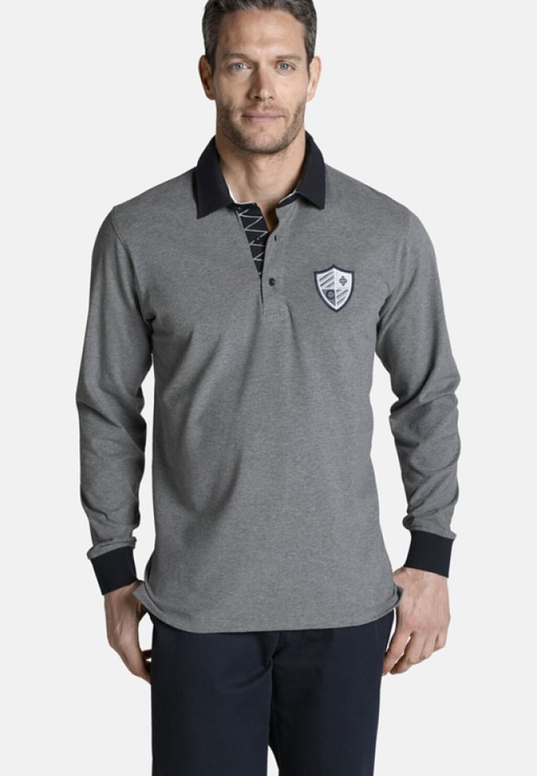 Charles Colby - CONNOR - Poloshirt - grey melange