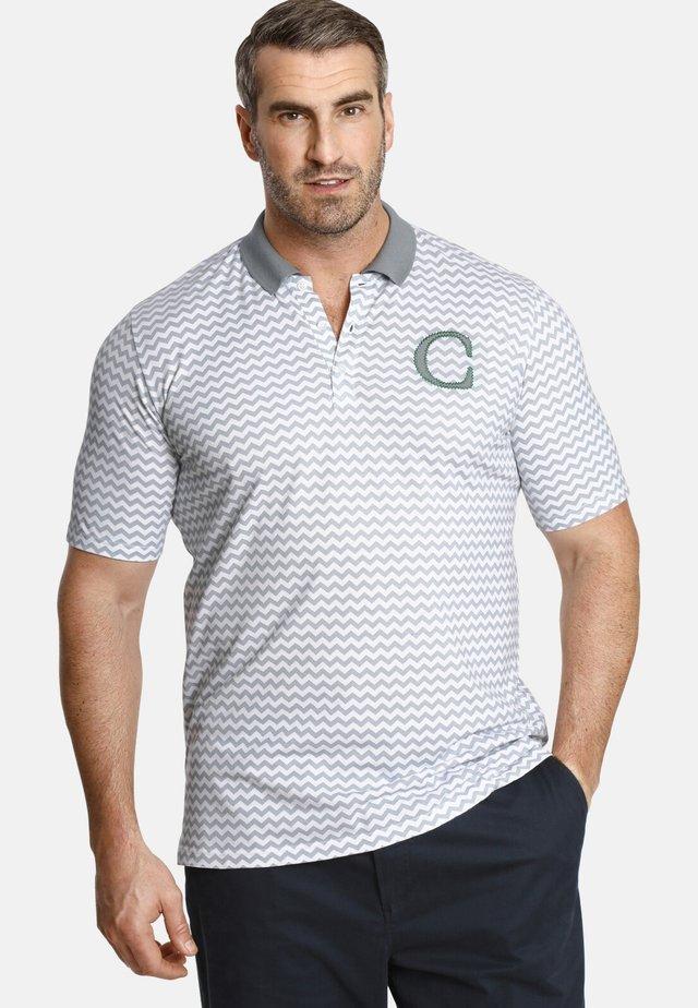 EARL KYLAR - Polo shirt - grey/white