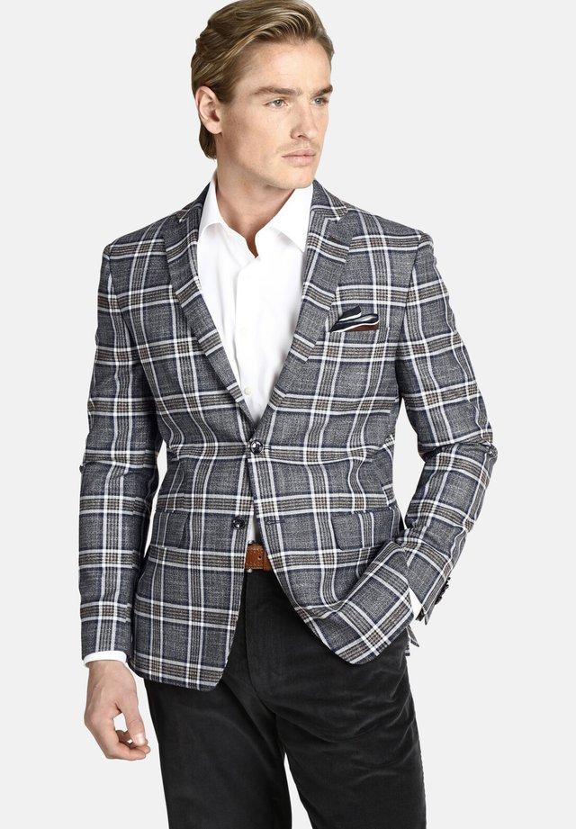 DUKE ZACHARY - blazer - blue gray checkered