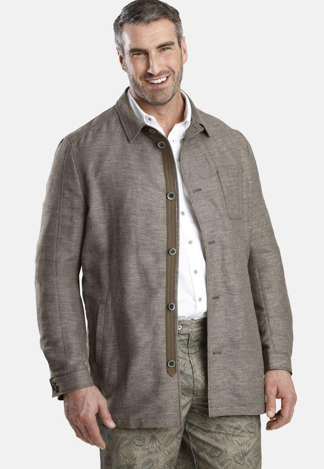 SIR EDUARD - Korte jassen - light brown melange