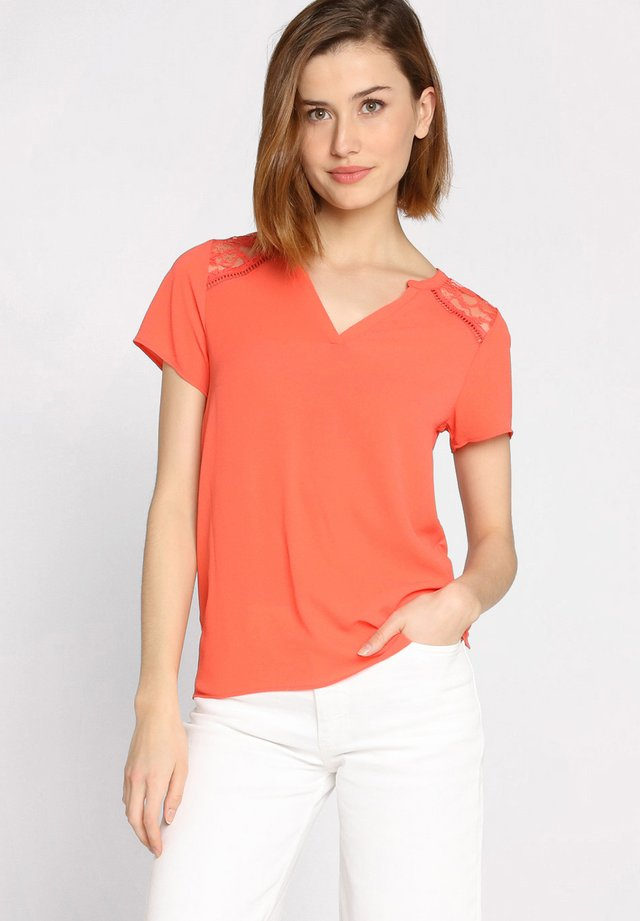 T-shirt imprimé - orange/coral