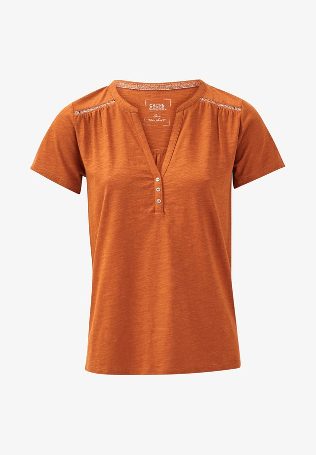 T-shirt imprimé - marron clair