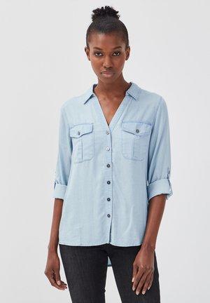 Overhemdblouse - stone blue denim