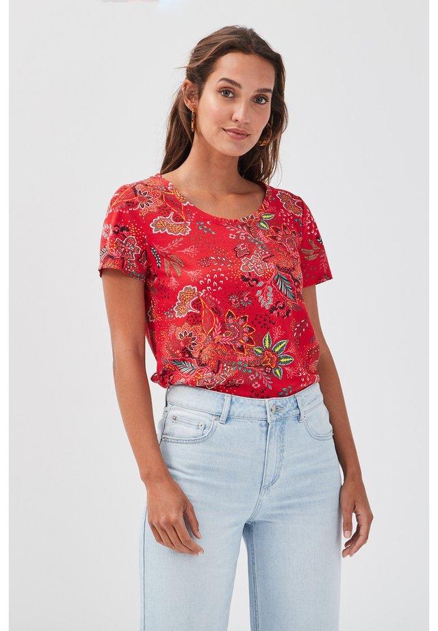 T-shirt imprimé - rouge
