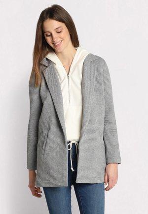 MIT GEKERBTEM KRAGEN - Short coat - gris clair