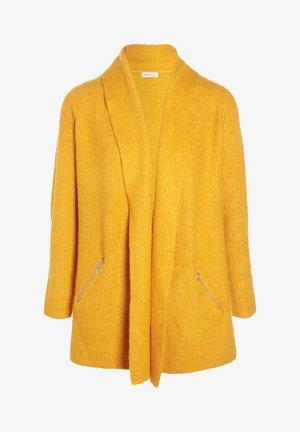 MIT TASCHEN - Cardigan - jaune moutarde