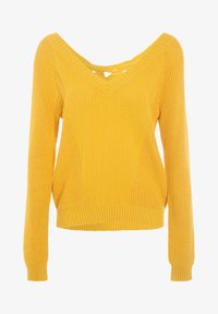 Cache Cache - MIT V-AUSSCHNITT - Jersey de punto - yellow - 4
