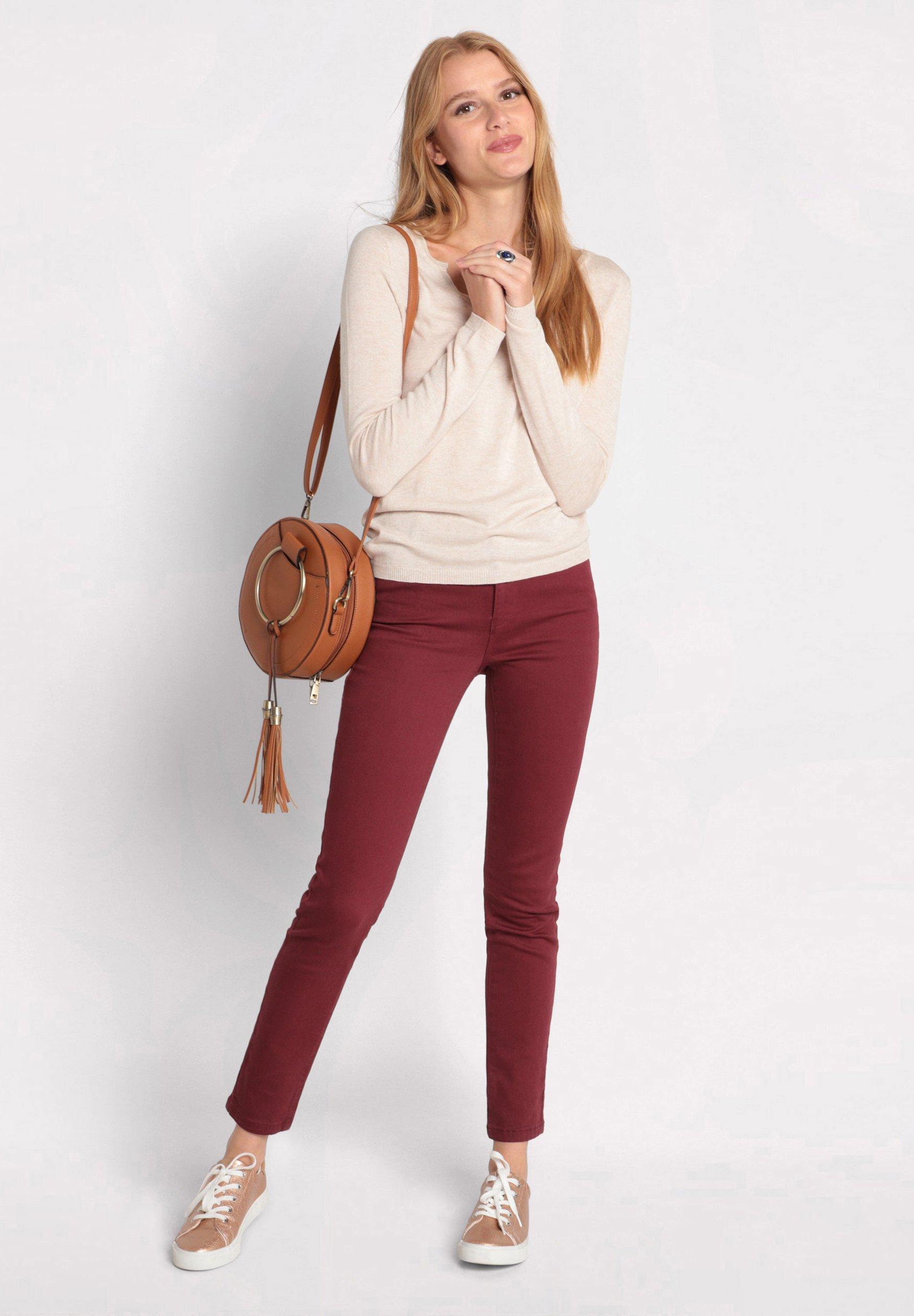 Cache Jeans Slim Fit - Bordeaux
